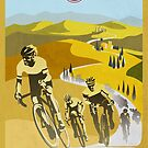 Strade Bianche Retro Cycling Art by SFDesignstudio
