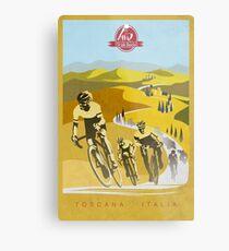 Lienzo metálico Strade Bianche Retro Cycling Art