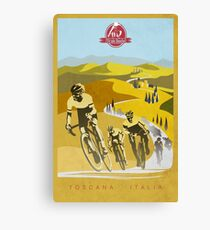 Strade Bianche Retro Cycling Art Canvas Print