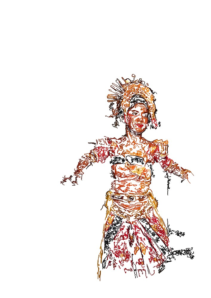 Indonesian Dancer by Matthew Tyrrell