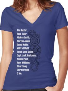 Doctor Who Companions Women's Fitted V-Neck T-Shirt