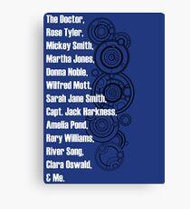 Doctor Who Companions Canvas Print