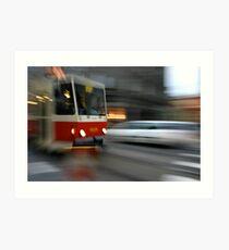 Prague Tram Art Print