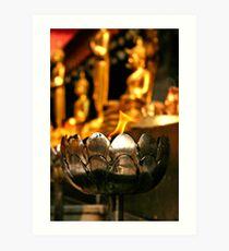 Thai Temple Flame Art Print