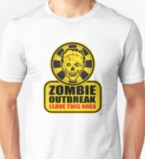 Zombie T-Shirt Zombie Outbreak Leave This Area T-Shirt