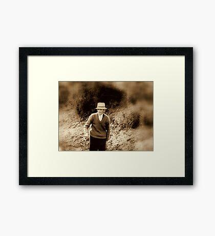ROAD OF LIFE Framed Print