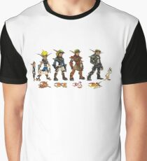 Jak and Daxter Saga - Simplified Colours Graphic T-Shirt