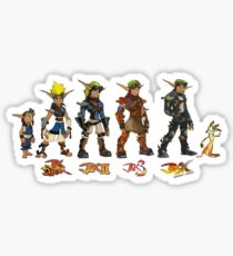 Jak and Daxter Saga - Simplified Colours Sticker
