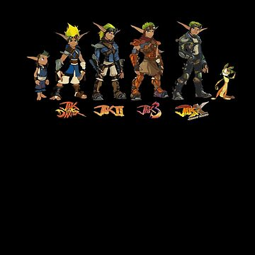 Jak and Daxter Saga - Simplified Colours by arunsundibob