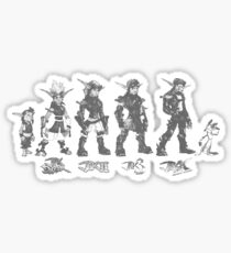 Jak and Daxter Saga - Black Sketch Sticker