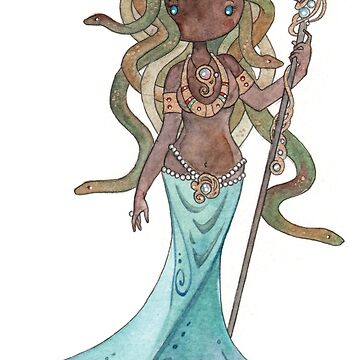 Mami Wata Medusa by dngstudios