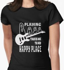 Bass Player Happiness Women's Fitted T-Shirt