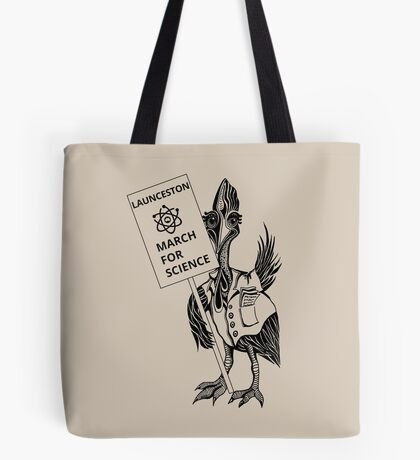 March for Science Launceston – Cassowary, black Tote Bag