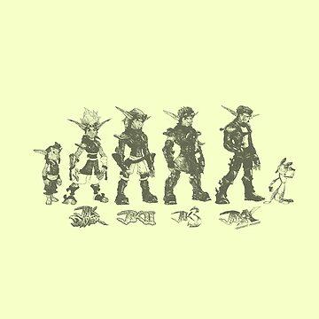 Jak and Daxter Saga - Black Sketch by arunsundibob