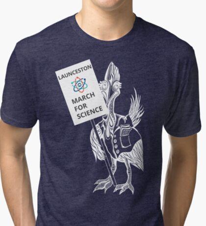 March for Science Launceston – Cassowary, white Tri-blend T-Shirt