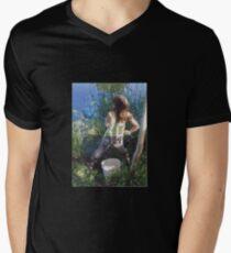 Frogger Mens V-Neck T-Shirt