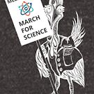 March for Science Melbourne – Cassowary, white by sciencemarchau