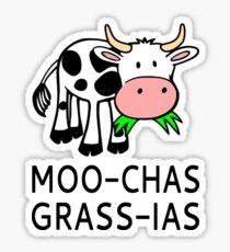 Pegatina Moo-chas Grass-ias (Muchas Gracias)