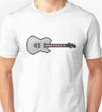 Pixel Silver Contemporary Tele Guitar T-Shirt