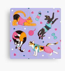 Yoga Cats Metal Print