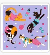 Yoga Cats Sticker