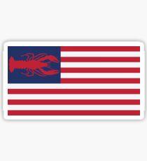 Crawfish Flag Sticker
