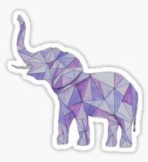 Purple Geometric Elephant  Sticker