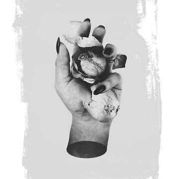 Gothic Floral Hand Art by kaespo