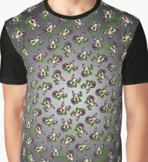 Boston Terrier in Black - Day of the Dead Sugar Skull Dog Graphic T-Shirt