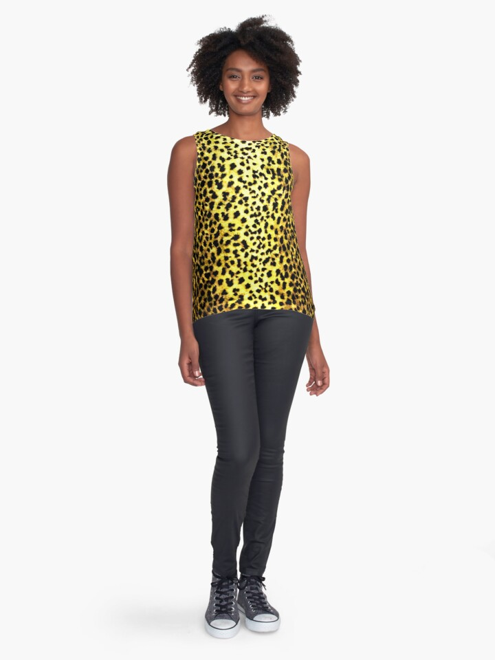 'Leopard Wallpaper Animal Print' Contrast Tank by yonni