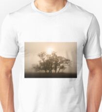 On fire in the fog - Tongala, Victoria, Australia T-Shirt