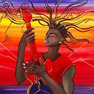 Electric Guitar Player by Giselle Luske