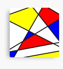 Confused Mondrian Canvas Print