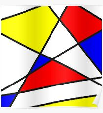 Confused Mondrian Poster