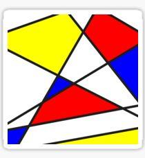 Confused Mondrian Sticker