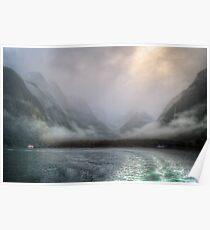 Mist over Milford Sound Poster