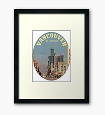 Granville Street, Vancouver, British Columbia, Canada  Framed Print