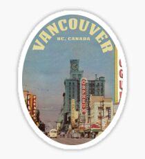 Granville Street, Vancouver, British Columbia, Canada  Sticker