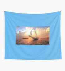 Full Sail Yacht  Wall Tapestry