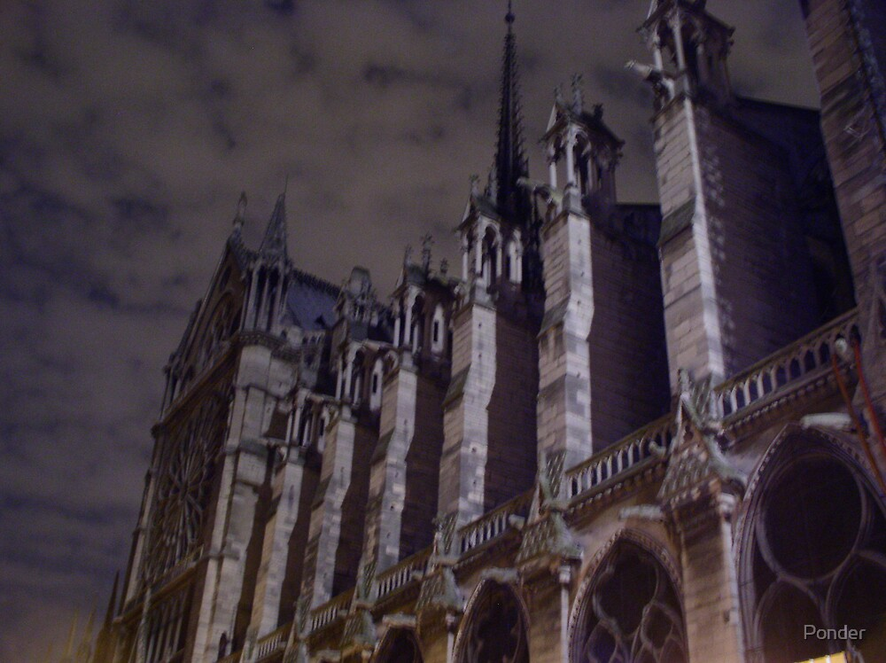 Chilly Night at Notre Dame by Ponder