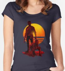 Logan Sunset Women's Fitted Scoop T-Shirt