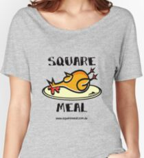 Crazy Chicken Square Meal by Penny  Women's Relaxed Fit T-Shirt