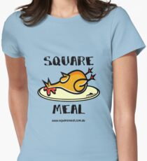 Crazy Chicken Square Meal by Penny  Women's Fitted T-Shirt