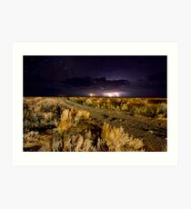 Electrical storm over the Bight Art Print