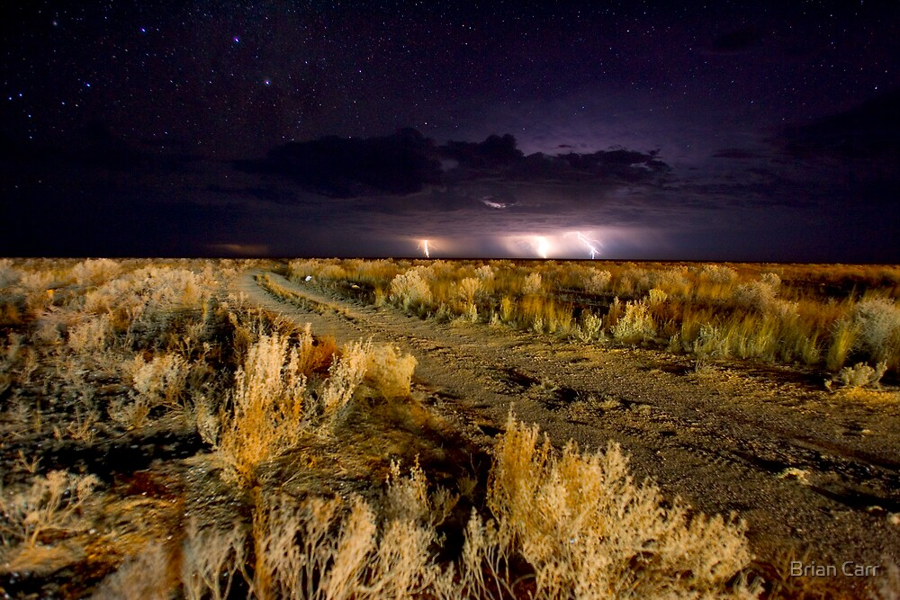 Electrical storm over the Bight by Brian Carr