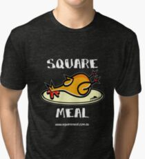 Crazy Chicken Square Meal by Penny - dark shirt  Tri-blend T-Shirt
