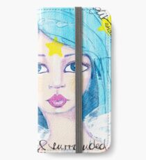 I am loved & surrounded by angels iPhone Flip-Case/Hülle/Skin