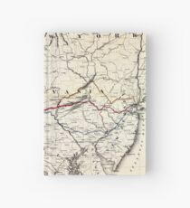 0382 Railroad Maps Map showing the Seaboard Pennsylvania and Western Railroad and its Hardcover Journal