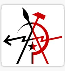 Leftist Unity - Anarchy and Communism Sticker