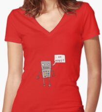 i am robot Women's Fitted V-Neck T-Shirt